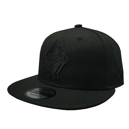 Men's Vancouver Whitecaps New Era Black on Black 9FIFTY Snapback Hat