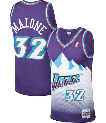 Men's Utah Jazz Karl Malone Purple 96-97 HWC Swingman Jersey
