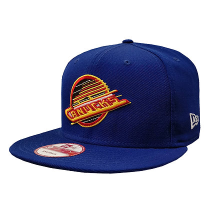 Men's Vancouver Canucks Skate Logo New Era Blue 9FIFTY Snapback
