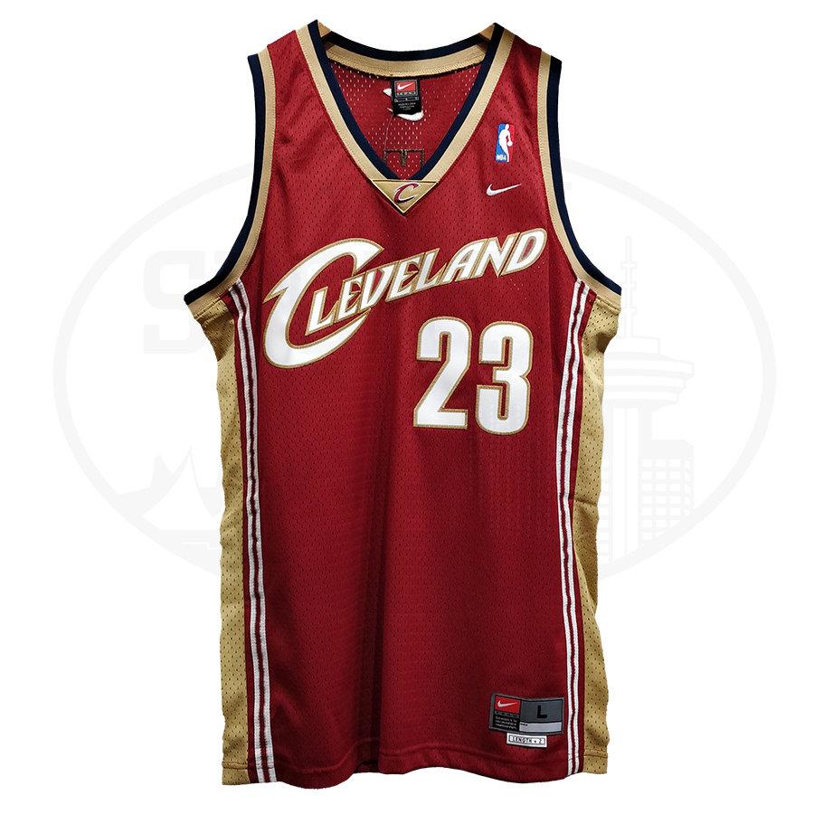 size 40 41557 da800 Men's Cleveland Cavaliers Lebron James 2003-04 Nike ORIGINAL ROOKIE Jersey