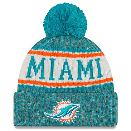 Men's Miami Dolphins New Era 2018 Sideline Official Sport Knit hat