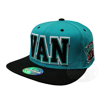 Vancouve Grizzlies Retaggio Mitchell and Ness Teal Flex Snapback Hat