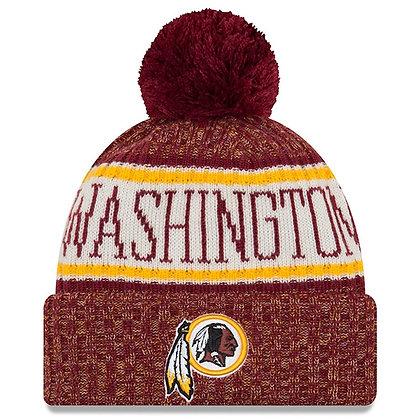 Men's Washington Redskins New Era 2018 Sideline Official Sport Knit hat
