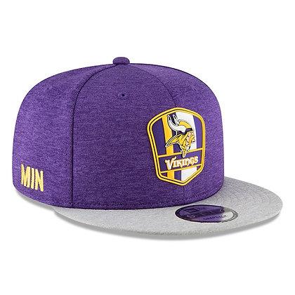 Men's Minnesota Vikings New Era Purple/ Grey 2018 NFL Sideline Road 9FIFTY