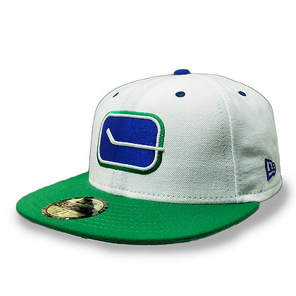 Men's Vancouver Canucks Stick-Rink 40th New Era White / Green 59FIFTY Fitted hat