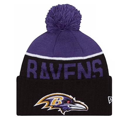 Men's Baltimore revans New Era Black/ Purple NFL Sideline Sport Knit / Toque