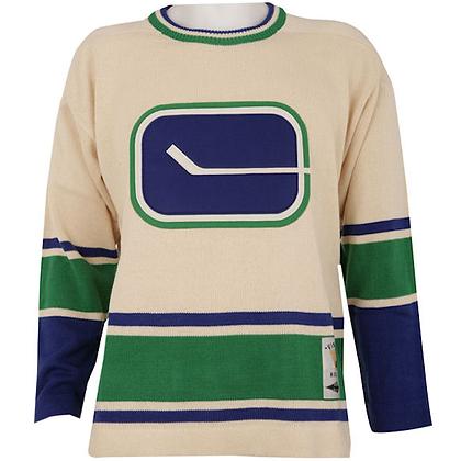 Men's Vancouver Canucks Vintage Sweater White Reebok Rodger Edwards