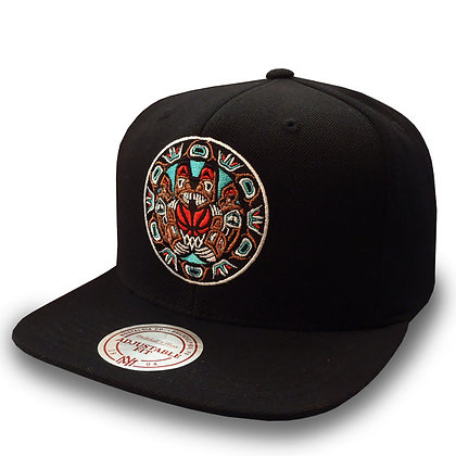 Men's Vancouver Grizzlies Mitchell and Ness Alternate Full Logo Snapback