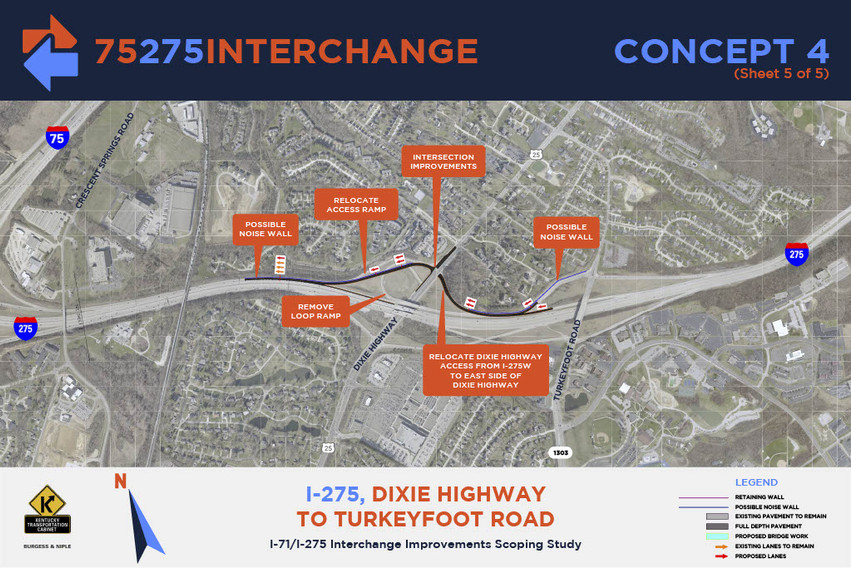 I-275, Dixie Highway to Turkeyfoot Road