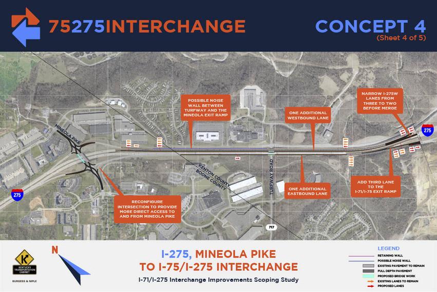 I-275, Mineola Pike to I-75/I-275 Interchange