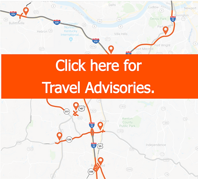 Travel Advisories Map for Northern Kentucky
