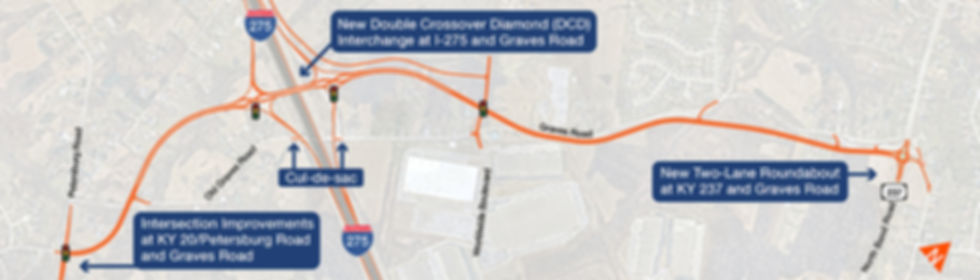 Graves Road Double Crossover Diamond Interchange Project Map