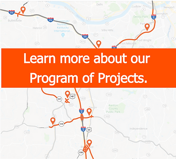 Project Map for KYTC District 6 Northern Kentucky projects