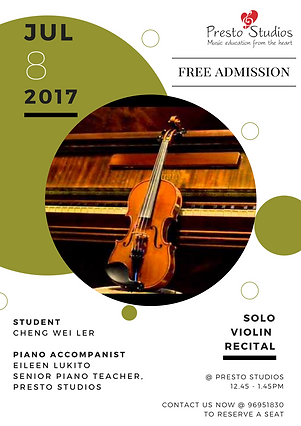 Violin Solo Recital