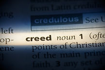 creed word in a dictionary. creed concep