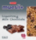 Muesli+ Liquorice & Milk Chocolate NEW.P