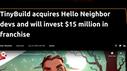 tinyBuild acquires the team behind Hello Neighbor