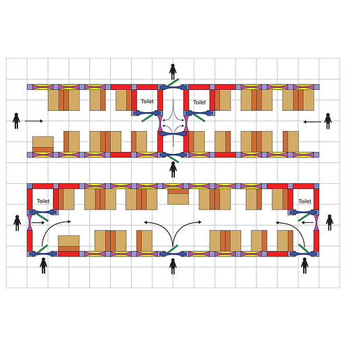 Black Wall System Train Carriage Layouts