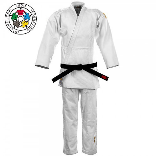 Gold IJF Approved White Junior Suit 2019
