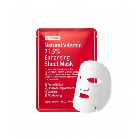 Natural Vitamin Enhancing Sheet Mask (By Wishtrend)