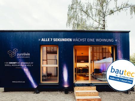 purelivin präsentiert sich erstmalig auf der bautec Berlin, 18. bis 21. Februar 2020