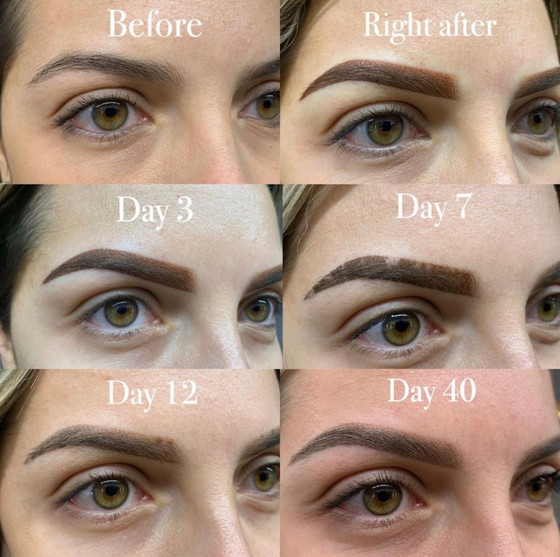 The Healing Process for Brow Permanent Makeup