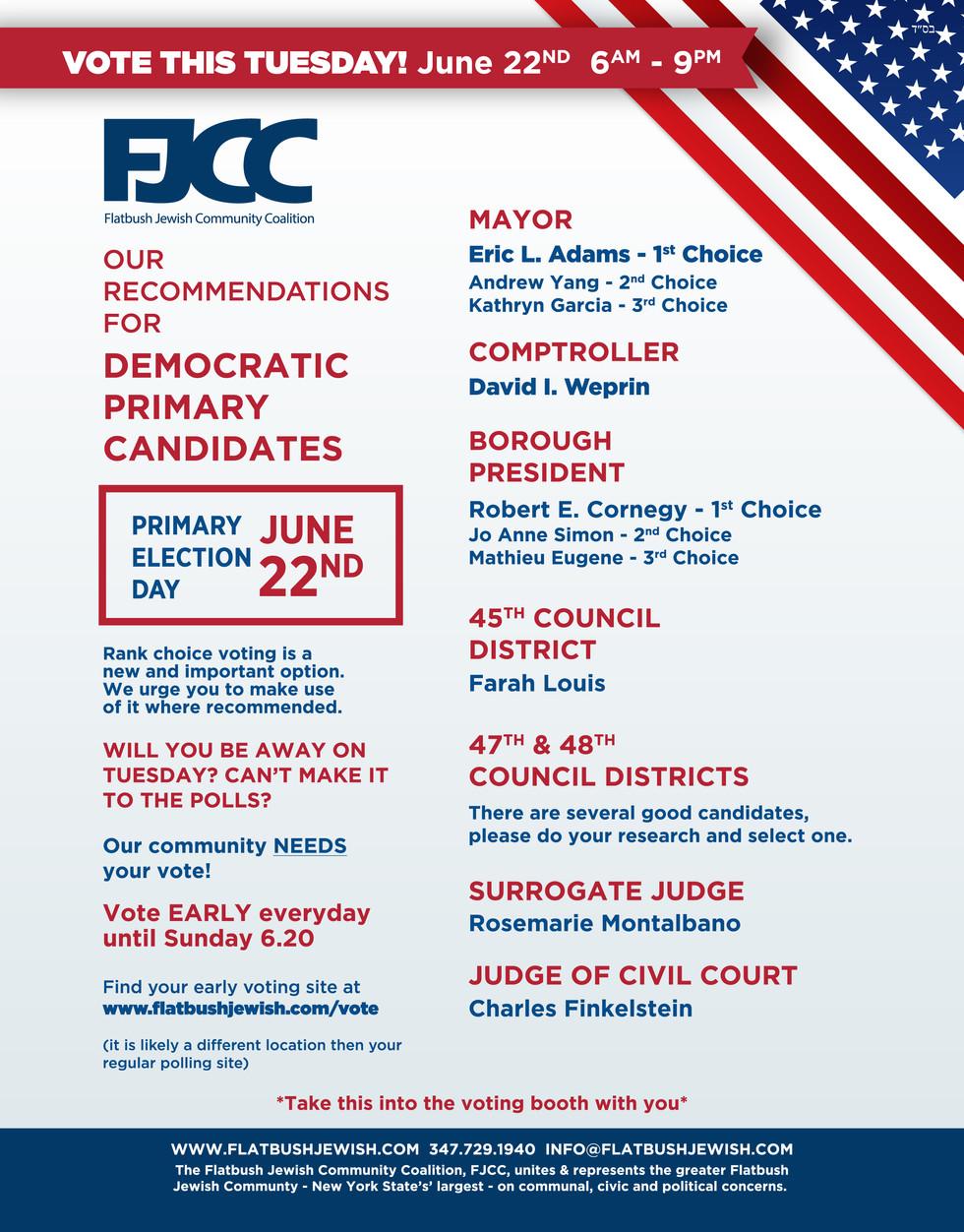 FJCC Voter Recommendations