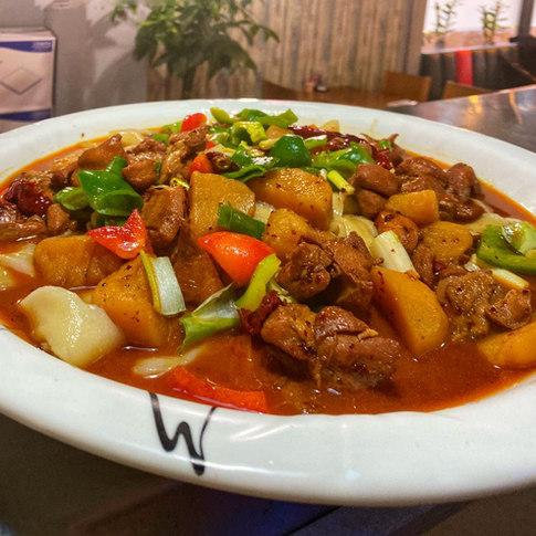 our No.1 dish Dapan Chicken.JPG