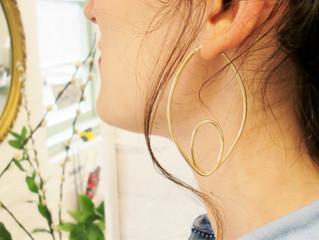 9ct y/g Hoop Earrings
