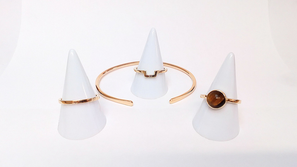 Ashes gold jewellery set