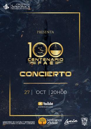 Invitación al concierto por el Centenario de la Fuerza Aérea Ecuatoriana