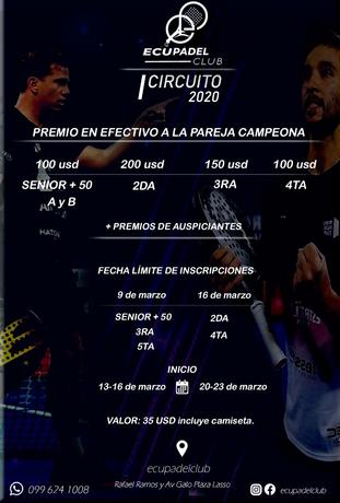 PRIMER TORNEO DEL CIRCUITO ECUPÁDEL 2020