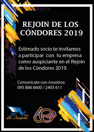 PARTICIPA CON TU EMPRESA EN EL REJOIN DE LOS CÓNDORES 2019