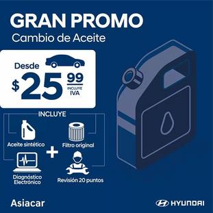 GRAN PROMO EN CAMBIO DE ACEITE - HYUNDAI
