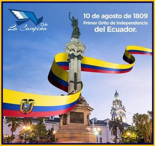 Saludo por el Primer Grito de Independencia del Ecuador