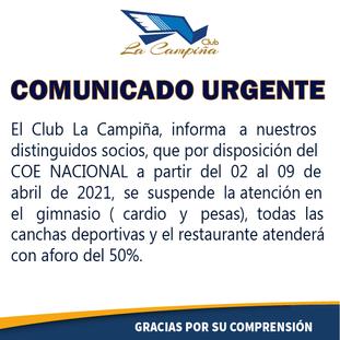 EL CLUB LA CAMPIÑA INFORMA