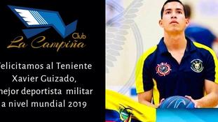 Felicitaciones a nuestro socio el Señor Teniente Xavier Guizado