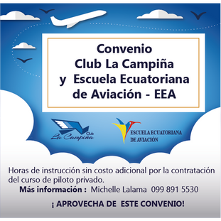 Convenio con la Escuela Ecuatoriana de Aviación - EEA