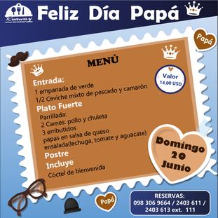 FESTEJA  JUNTO A NOSOTROS EL DÍA DEL PADRE