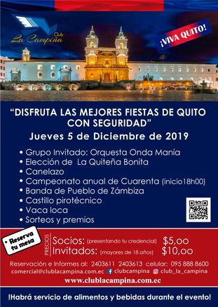 Vive las Fiestas de Quito con el Club La Campiña