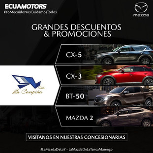 Aprovecha de los grandes descuentos y promociones en Mazda  para socios del Club La Campiña.