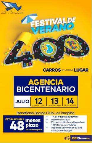 FESTIVAL VERANO 400