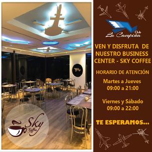 VEN Y DISFRUTA DE NUESTRO BUSINESS CENTER - SKY COFFEE