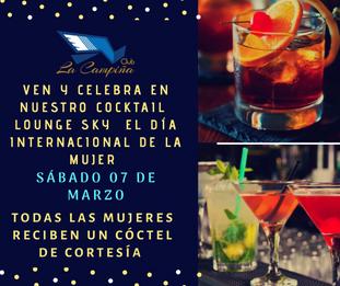 Festeja el Día Internacional de la Mujer en nuestro Cocktail Lounge Sky
