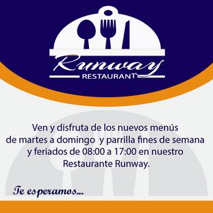 Disfruta de los nuevos menús de nuestro Restaurante Runway
