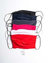 Masque noir, bleu, anthracite, fuschia, blanc et rouge