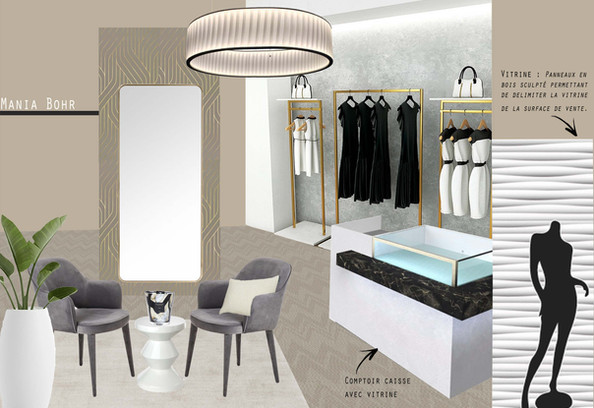 Boutique de prêt-à-porter pour femme - PARIS 6ème