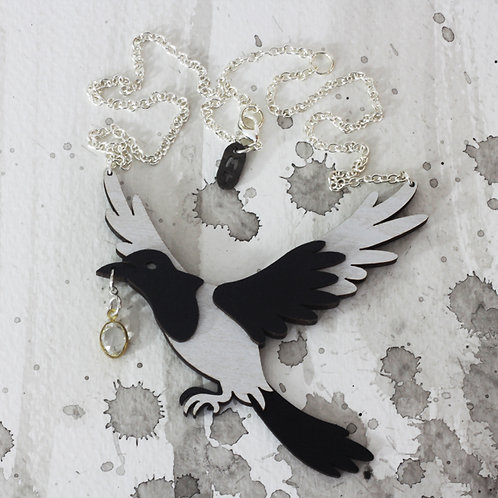 Woodland Magpie Thief Necklace