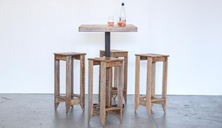 Rustic Cocktail Table Set
