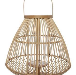 Bamboo Table Lantern - inc. candle
